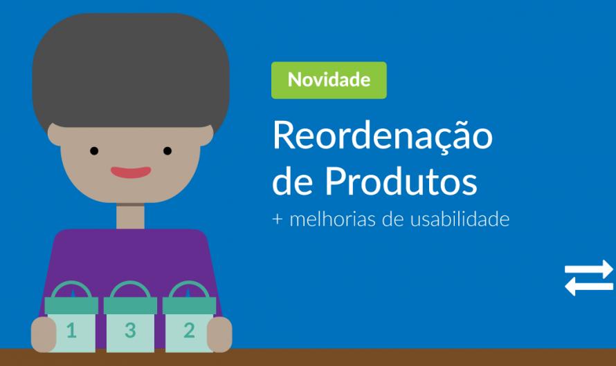 Reordenação de Produtos e Melhorias de Usabilidade